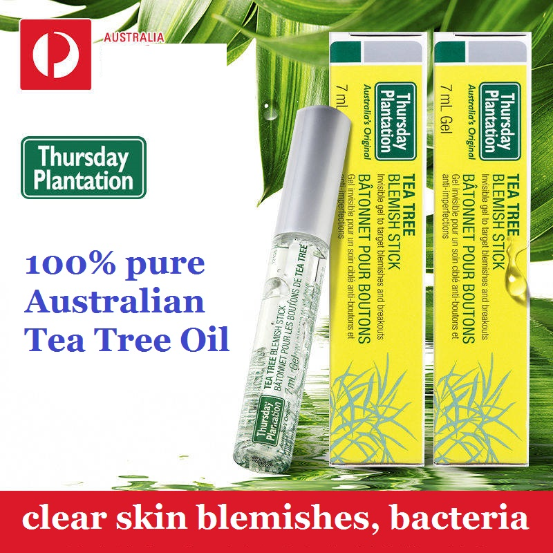 Thursday Plantation 100% Australian Tea Tree Oil Blemish Stick antibacterial to clear skin blemishes, control breakouts acne tea tree essential oil australian tea tree oil acne oil control whitening anti inflammatory oil10ml acne scar removing essential