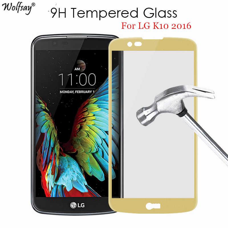 Wolfsay 1 шт. для стекла LG K10 2016 Защитная пленка для экрана из закаленного стекла для LG K10 Lte K420N K430DS защитная пленка против царапин