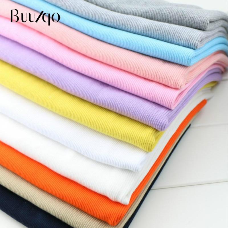 buulqo 2*2 cotton elastic rib winter pregnant abdominal cuffs hem pants sport sweater wrapping fabric 10*80cm
