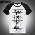 Eshow Brand Clothing Pink Floyd THE WALL Lycra Fashion T-Shirt Men 2016 Summer Short Sleeve T Shirts Men Tshirt Tops & Tees