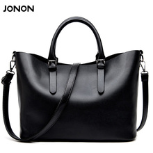 Jonon Bolso Mujer Negro 2016 Fashion Hobos Women Bag Ladies Brand Leather Handbags Spring Casual Tote Bag Big Shoulder Bags For