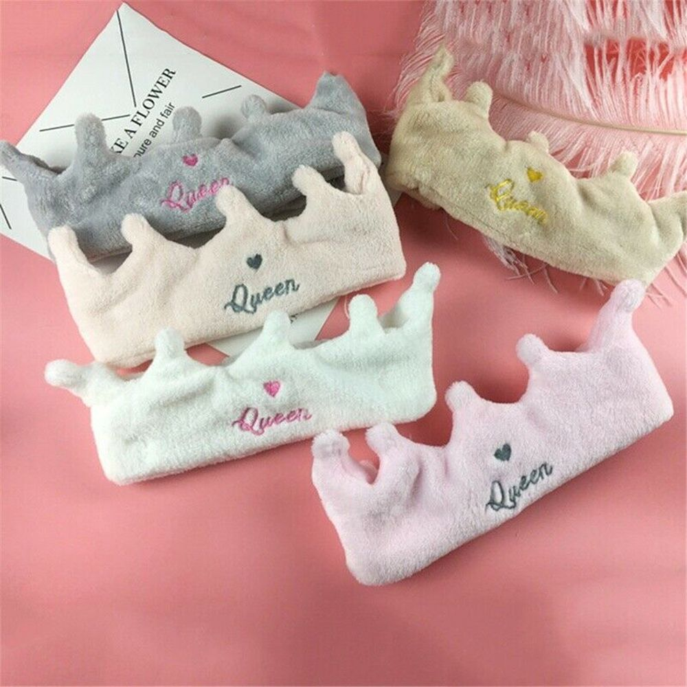 Fashion Hair Band Cute Crown Shaped Headband Queen Heart Wash Face Mask Bath Make Up Women Girls Hair Band