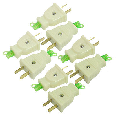 8 Pcs AC 250V 16Amp Power Connector Head 2 Pin Electrical US AU Plug 5pcs ac 250v 16a 2 pin us au power plug connector replacement