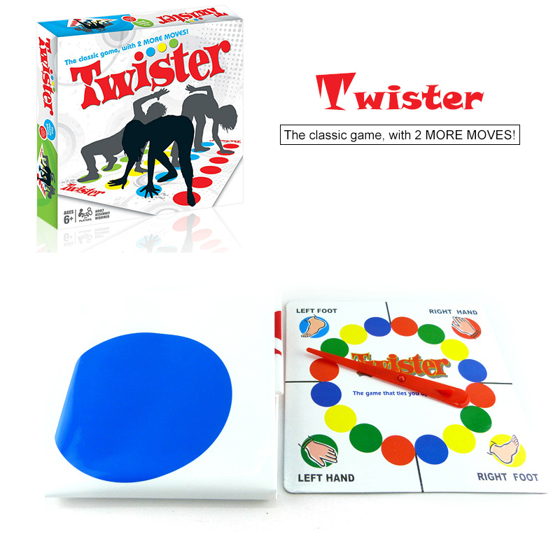 Twister Body Game Family Funny Outdoor Sports Toys Twisting body Exercise Coordination Of Gadgets interactive educational Game baby toys