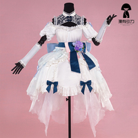 Vsinger Vocaloid Luo Tianyi Cosplay Clothes Halloween Party Cosplay Costume Uniform Dress White Lovely Dress For
