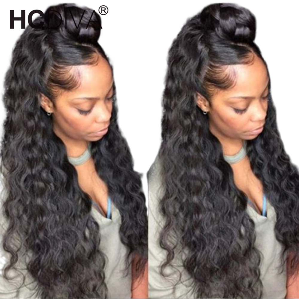 360 Lace Frontal Wigs Deep Wave Lace Frontal Wig Pre Plucked With Baby Hair 180 Remy
