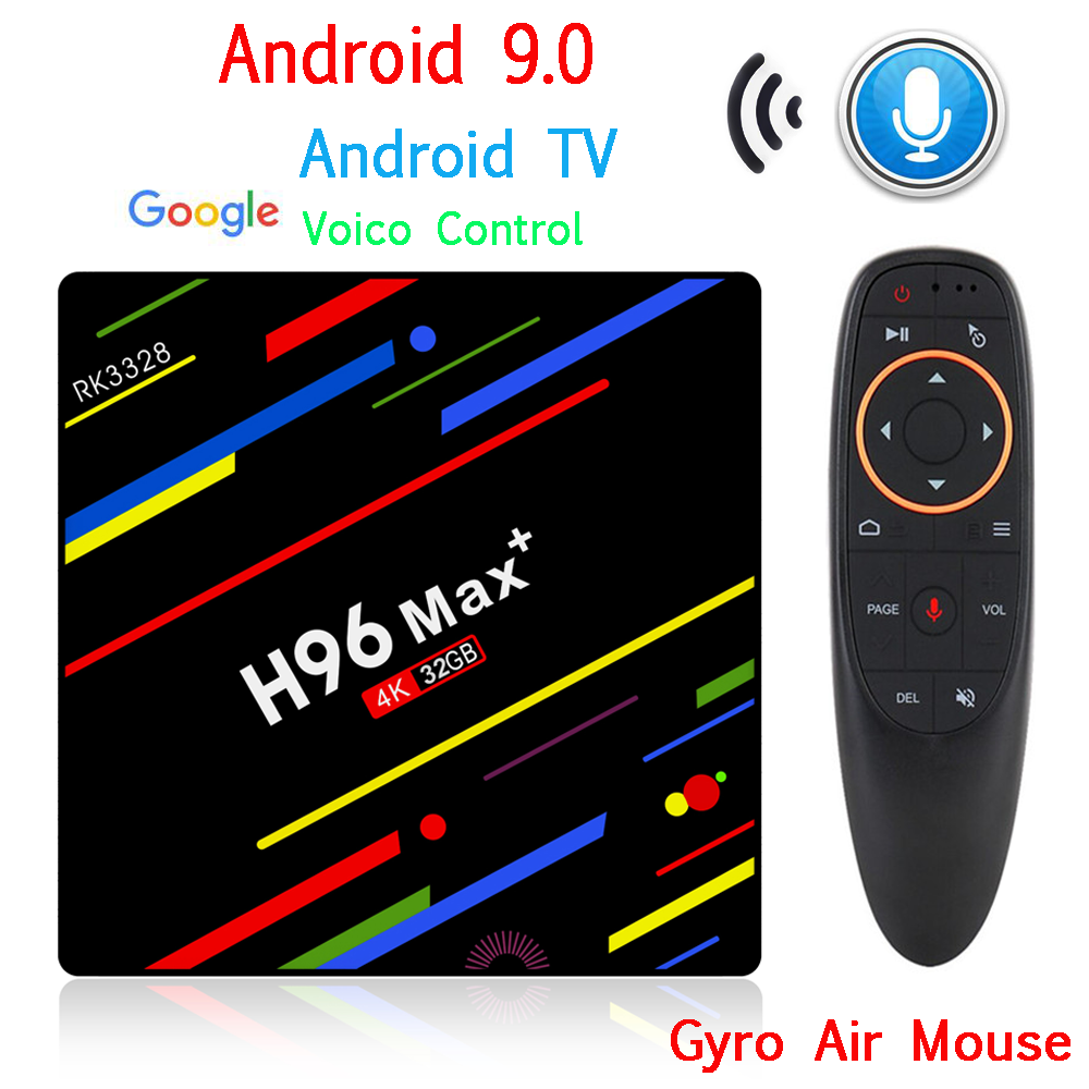 H96 MAX Plus TV Box Android 9.0 décodeur intelligent RK3328 4 GB 32 GB 64 GB 5G Wifi 4 K H.265 lecteur multimédia H96 Pro H2 PK X96 MAX