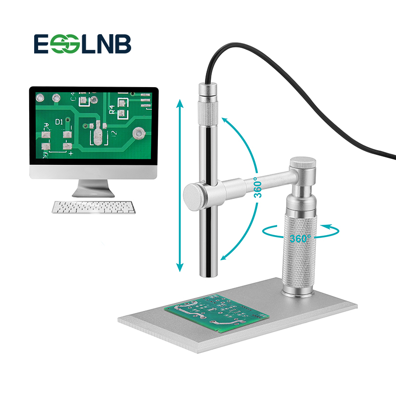 <font><b>USB</b></font> Digital <font><b>Microscope</b></font> Magnifier Camera <font><b>200X</b></font> Zoom 1600x1200 HD 2MP PCB Inspection Handheld Endoscope With 8 LED Lights image