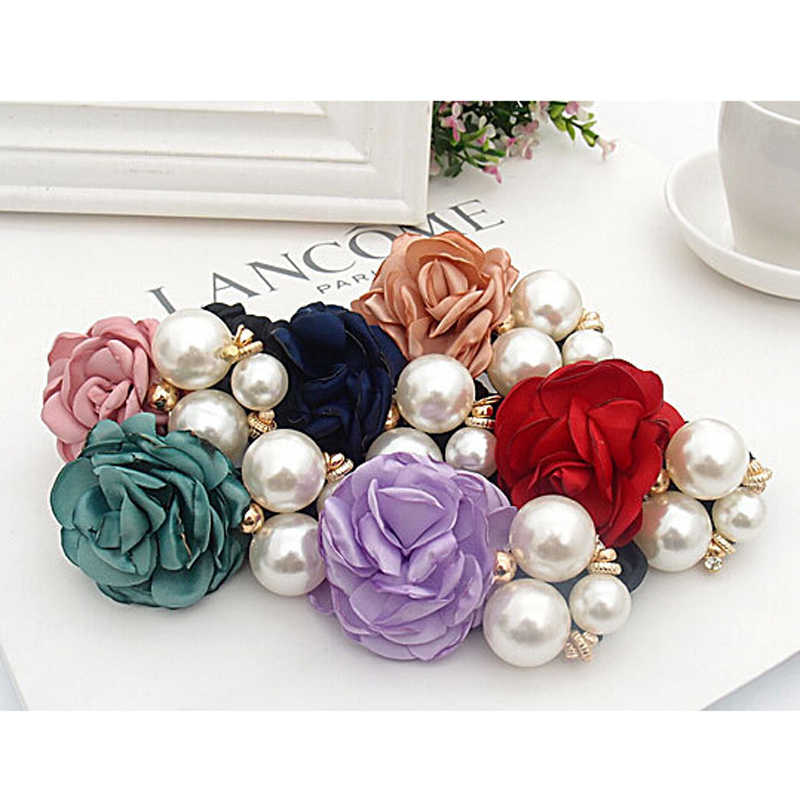 SALE Women Girls Popular Korean Style Big Flower Pearl Hair Band Hair Rope Fashion Hair Accessories 1pc