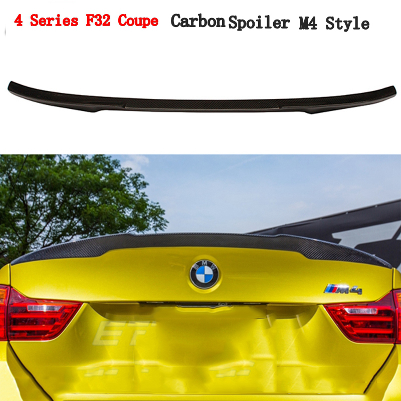 MONTFORD Car Styling Carbon Fiber Rear Roof Spoiler For BMW 4 Series F32 Coupe 2Door 420I 428I 435I M4 Style 2014 2015 2016 2017