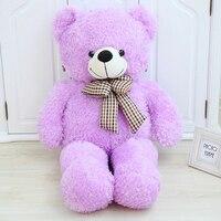 60/80/100 см Новый стиль галстук-бабочка мишки Плюшевые Игрушечные лошадки плюша медведь ткань кукла подарок на день рождения для детей день ро...