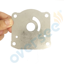 OVERSEE New Water Pump Plate 61N-44323-00-00  Replaces for Yamaha Outboard Engine