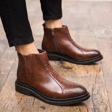 Neue mode lässig männer leder stiefel, beliebte Britischen retro business  krokodil männer stiefel, heißer 9c4f040d29