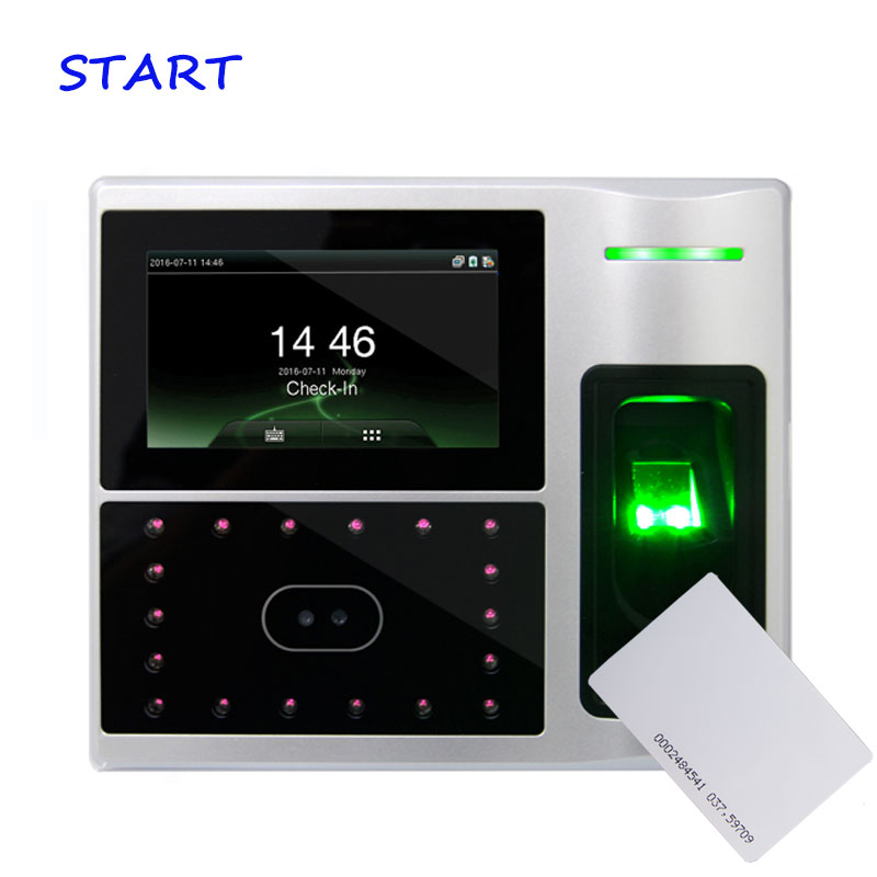 ZK Iface800 Facial Employees Attendance Biometric WIFI Face And RFID Time Attendance And Access Control Device