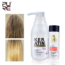 11.11 PURC البرازيلي الكيراتين 12% الفورمالين 300 مللي الكيراتين العلاج الشامبو استقامة إصلاح الشعر الضرر الكيراتين الشعر للشعر