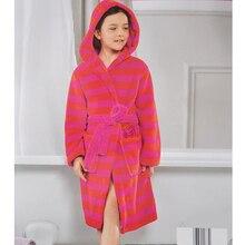 Детские халат ребенка халат пижамы ночной рубашке коралловый флис теплый халат дом пальто