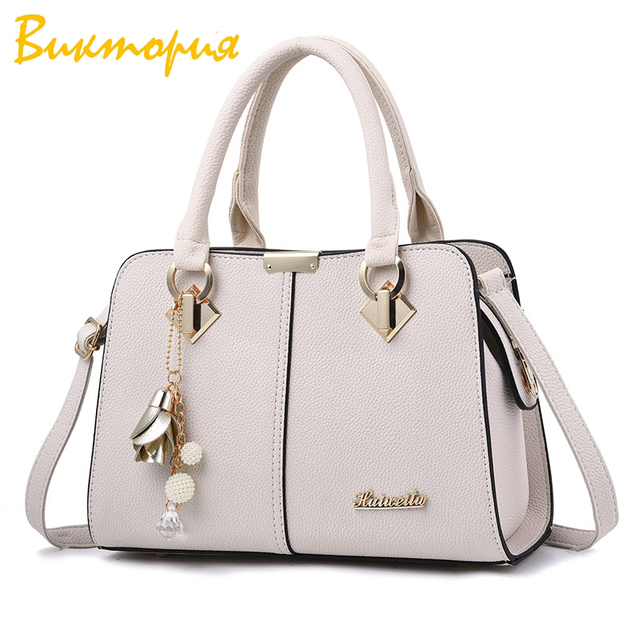 CHARA'S BAG brand PU Leather women's handbags  fashion Shopping Shoulder Bags Solid color Metal accessories mom big square bag