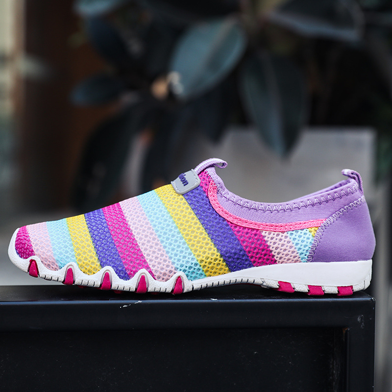 Fashion Sneakers Women Shoes Casual Woman Loafers Slip-on Ladies Sneakers Colorful Striped Women Flats Plus Size A1328Fashion Sneakers Women Shoes Casual Woman Loafers Slip-on Ladies Sneakers Colorful Striped Women Flats Plus Size A1328