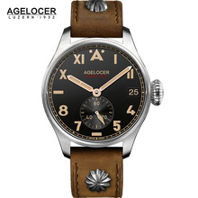 2017 AGELCOER Watches Automatic Small Seconds Date Multifuntion Luminous Hour Mens Steel Business Dress Watches Waterproof 100m