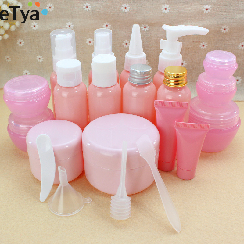 ETya  Portable Travel Empty Cosmetic Containers Cream Lotion Plastic Bottles Bags Pouch  Travel Accessories