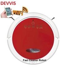 2018 Popular Red Color Smartphone WIFI APP Control Robotic Vacuum Cleaner QQ6 Sweeping Machine vaccum floor