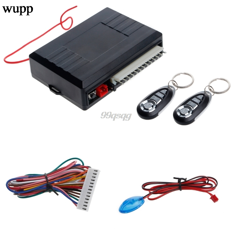 2Universal Car Alarm Systems Auto Remote Central Kit Door Lock Vehicle Keyless Entry System Central Locking with Remote Control цена