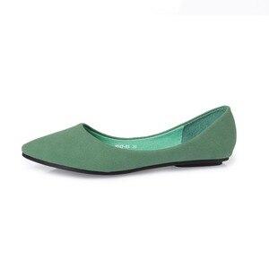 Image 2 - BEYARNE moda renk blok dekorasyon düz topuk tekne ayakkabı renk blok sivri burun düz mokasen gommino sevimli ayakkabı tek ayakkabı