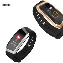 Fashion Smart Bracelet Large Color Screen Fitness Tracker Heart Rate Monitor Waterproof IP67 Band Sport for Android IOS(China)