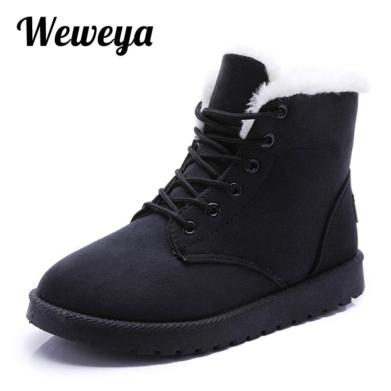 Mujeres Tobillo 35 Felpa brown Zapatos black brown Nieve Para De Piel Mujer La Top Caliente Suave Invierno Femenina gray Low red Damas Bota Beige Weweya 40 Retro Botas UI6qvv