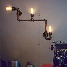 3 Огни Лофт Старинные Проходу Бра Водопровод, Бар Ресторан RH Железа Промышленные Трубы Настенные Светильники, E27 эдисон Бра
