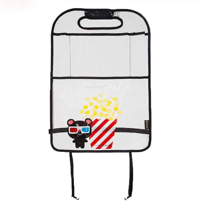 厚み環境 PVC カバー車のバックシート蹴るマット子供のためのチャイルドシート-オーガナイザー Ipad とドリンク