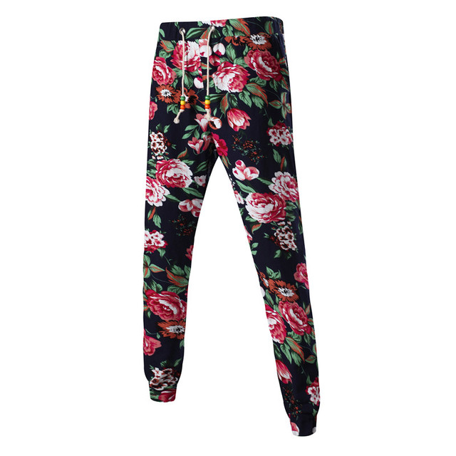 Mens Joggers Pantalon 2017 Male Brand Men Pants Harem Flower Printing Trousers  Sweatpants Jogger Pantalones 5XL RITN