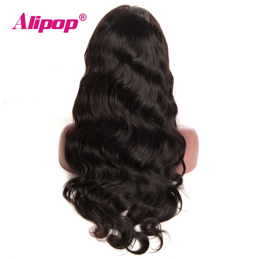 """[ALIPOP] Pre Plucked Brazilian Lace Front Human Hair Wigs With Baby Hair 8""""-24"""" Body Wave Lace Wig For Black Women Non-Remy"""
