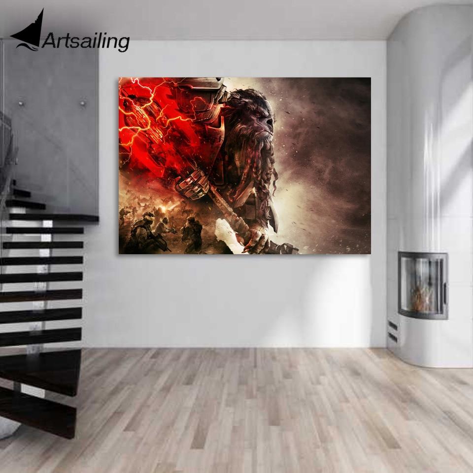 1 Piece Canvas Art Canvas Painting Xbox Games Jump Ahead Hd Printed