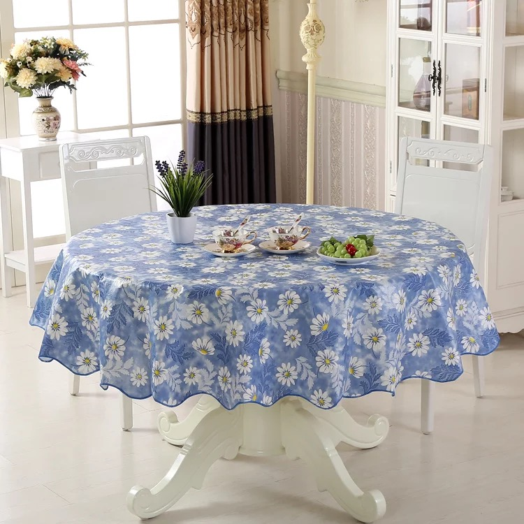 Waterproof u0026 Oilproof Wipe Clean PVC Vinyl Tablecloth Dining Kitchen Table Cover Protector OILCLOTH FABRIC COVERING-in Tablecloths from Home u0026 Garden on ... & Waterproof u0026 Oilproof Wipe Clean PVC Vinyl Tablecloth Dining Kitchen ...