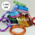 10M Anadized Aluminum Wire versatile painted aluminium metal wire, Ni & Pb free - 14 gauge (1.5mm), LX
