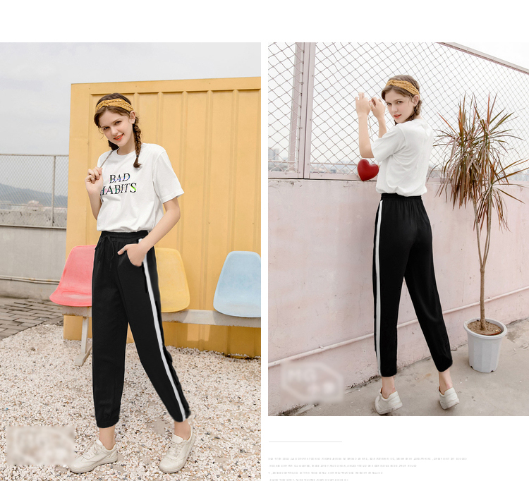 Sweatpants Casual Pants Striped Side Sweat Pants Runing Sport Pant