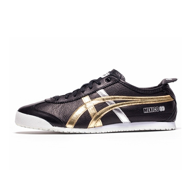 c3399524500 Onitsuka Tiger MEXICO 66 Black Hot Stamping Men s Shoes Rubber sole  Hard-Wearing Sneakers Badminton Shoes size36-44 D5V2L-9094