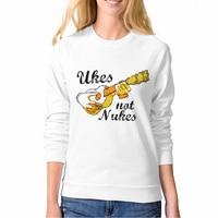 Newest Fashion Streetwear Women Sweatshirts Ukes Not Nukes Cartoon Crew Neck Clothing Vogue 3d Printer Pullovers Casual
