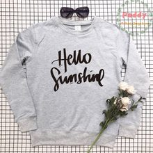 1ae0e394f75 Hello sunshine sweatshirts casual cute crewneck full sleeve unisex women  mens top pullovers aesthetic streetwear befree