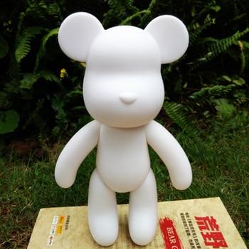 Wholesale 5pc /set 10 inch Vinyl Cartoon Popobe Violence Bear Momo White Mold for DIY Graffiti painted 24cm