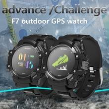 F7 relógio Inteligente Monitor de Freqüência Cardíaca de Fitness rastreador IP67 À Prova D' Água Bússola Altitude Termômetro Esporte Bluetooth Smartwatch GPS