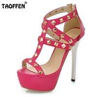 Free Shipping Quality High Heel Sandals Fashion Women Dress Sexy Shoes Platform Pumps P14329 Hot Sale