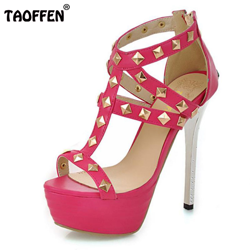 TAOFFEN women high heel sandals platform fashion dress lady sexy shoes heels quality pumps P14329 Hot sale EUR size 32-43 hot sale brand ladies pumps sexy women high heels platform sexy women high heel pumps wedding shoes free shipping 2888 1