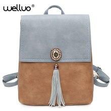 Новый кисточкой рюкзаки для девочек-подростков скраб женщины рюкзак из искусственной кожи с блестками Женский Рюкзак Фирменное тиснение леди назад XA124B