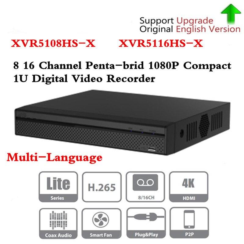 Бренд DVR XVR5108HS X XVR5116HS X 8ch 16ch до 6MP H.265 +/H.265Smart поиск цифрового видео регистраторы Бесплатная DHL