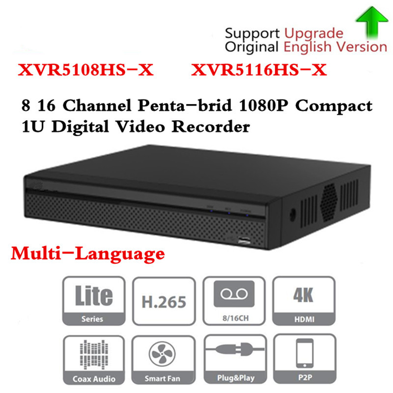 Brand DVR XVR5108HS-X XVR5116HS-X 8ch 16ch Up to 6MP H.265+/H.265Smart Search Digital Video Recorder Free DHL shipping