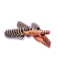 Hair Brush Straightener Pear Blossom Straight Blow Modeling Rolling Cylinder Comb Beauty Salon Hairdressing Barber Tools