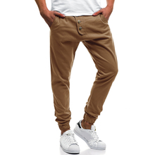 2019 hot fashion men Skinny Fit straight leg pants men casual pencil tracksuit Cargo pants with pockets M-XXXL zipper fly straight leg pockets cargo pants