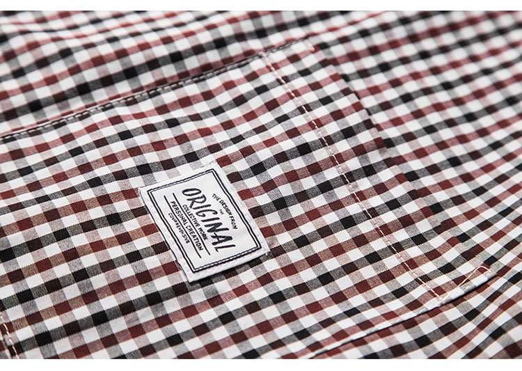 Aolamegs Plaid Shirt Men High Street Style Oversize Shirts 2017 Spring Summer New Hip Hop Harajuku Short Sleeve Shirts Camisa (6)